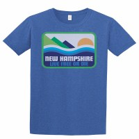 Woods & Sea Pata-New Hampshire Tee L Heather Royal