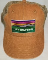 Royal Resortwear New Hampshire Color Mountains Trucker Hat OS Brown