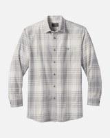 Pendleton Jaspe Plaid Shirt X-Large Light Grey Plaid