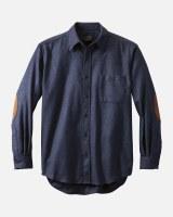 Pendleton Solid Trail Shirt Medium Navy Mix