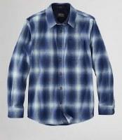 Pendleton Lodge Shirt L Blue Ombre Plaid