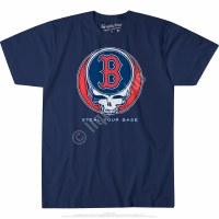 Liquid Blue Red Sox Skull S/S Tee Medium Navy