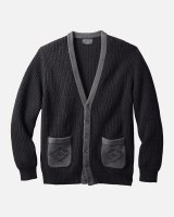 Pendleton Cotton Novelty Cardigan M Black/Grey