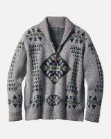 Pendleton Basket Maker Zip Cardigan Medium Basket Maker Grey