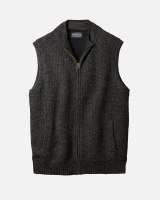 Pendleton Shetland Zip Vest M Black Heather