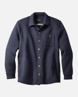 Pendleton Quilted Knit Shirt Jacket Medium Dark Blue Heather