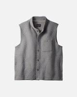 Pendleton Quilted Knit Vest  Medium Medium Grey Heather