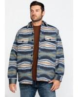 Pendleton Jacquard Quilted Shirt Jacket XL Crescent Bay