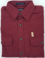 Northern Expedition Yosemite Heather Chamois Shirt Medium Burgandy