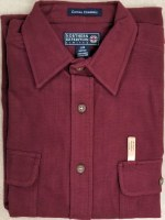 Northern Expedition Yosemite Heather Chamois Shirt Large Dark Burgandy