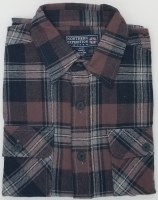 Northern Expedition Outback Brawney Flannel Shirt Medium Brown Plaid