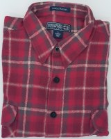 Northern Expedition Outback Brawney Flannel Shirt Medium Brick Plaid