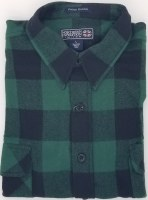Northern Expedition Outback Brawney Flannel Shirt Medium Green/Black Check