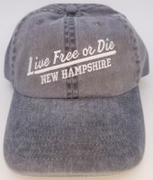 Royal Resortwear New Hampshire Live Free or Die Underline Ball Cap One Size Charcoal