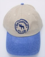 Royal Resortwear Moose Broken Circle Ball Cap One Size Kahki/Blue