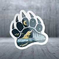 Sticker Pack Mountain Hand - Bear Paw Decal Small