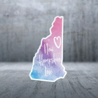 Sticker Pack New Hampshire Love Decal Small