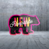Sticker Pack Retro Future - Pink Black Bear Decal Small