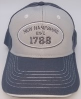 Royal Resortwear New Hampshire Established 1788 Ball Cap One Size Grey