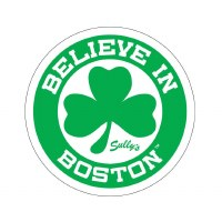 Sully's Tees Green Shamrock Believe In Boston Bumper Sticker N/A N/A