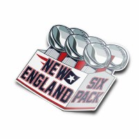 The Boston Sports Apparel New England 6 Pack Sticker N/A N/A