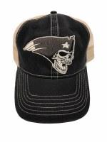 The Boston Sports Apparel Flying Skull Trucker Hat OS Black
