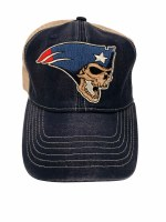 The Boston Sports Apparel Flying Skull Trucker Hat OS Denim