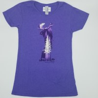 Duck Co. Spirit of the Forest Women's S/S Tee Small Heather Purple