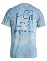Puppie Love Tie Dye Pup Short Sleeve Adult Tee M Wildflower