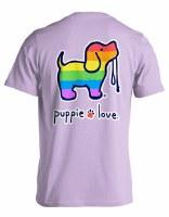 Puppie Love Rainbow Pup S/S Tee S Orchid