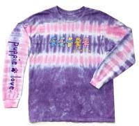 Puppie Love Dancing Dogs L/S Tee S Purple/Pink