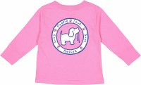 Puppie Love Logo Pup Toddler L/S Tee 2T Raspberry