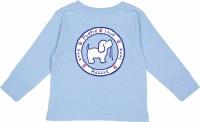 Puppie Love Logo Pup Toddler L/S Tee 2T Light Blue
