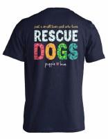 Puppie Love Small Town Girl Adult Short Sleeve Tee S Navy