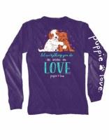 Puppie Love Love Puppies L/S Tee S Purple
