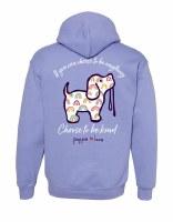 Puppie Love Kind Rainbow Pup Hoodie S Violet