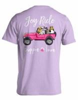 Puppie Love Joy Ride Adult Short Sleeve Tee S Orchid