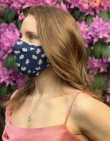 Puppie Love Pup Face Mask One Size Navy