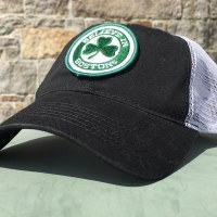 Sully's Tees Believe In Boston Green Shamrock Mesh Trucker Hat One Size Black/Green
