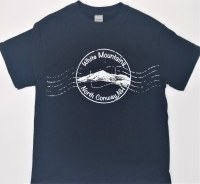 Luba Designs Stamp North Conway, New Hampshire Tee M Black