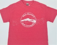 Luba Designs Stamp North Conway, New Hampshire Tee S Heather Red
