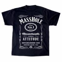 "Sully's Tees Masshole ""Jack Daniels"" T-Shirt Small Black"