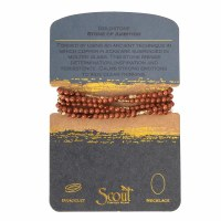 Scout Currated Wears Stone Wrap Bracelet/Necklace STONE WRAP  Goldstone/Gold