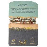 Scout Currated Wears Stone Wrap Bracelet/Necklace STONE WRAP  Aqua Terra/Gold/Silver