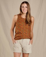 Toad & Co  Hillrose Festival Tank XL Chestnut Ditsy Print