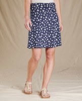 Toad & Co  Chaka Skirt L True Navy Tossed FLoral