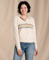 Toad & Co  Follow Through Pullover XS Oatmeal Stripe