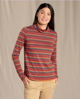 Toad & Co  Women's Maisey Long-sleeve Turtleneck M Manzanita Multi Stripe