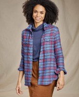 Toad & Co  Re-Form Flannel Shirt Small Blue Moon