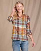 Toad & Co  Re-Form Flannel Shirt XS Breakwater